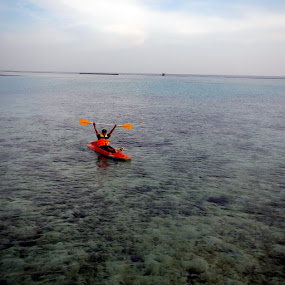 Canoeing at Tidung Island by Diadjeng Laraswati H - Sports & Fitness Watersports (  )