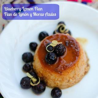 Blueberry Lemon Flan Recipe