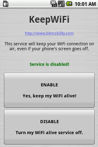 KeepWiFi - screenshot