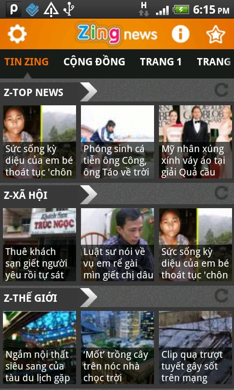 Zing News - screenshot