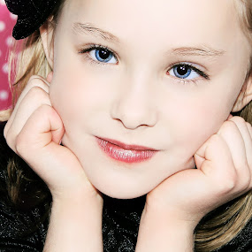 by Chrysta Rae - Babies & Children Child Portraits ( sweet girl, girl, girl grins, beautiful, blue eyes, pretty, girl portrait )