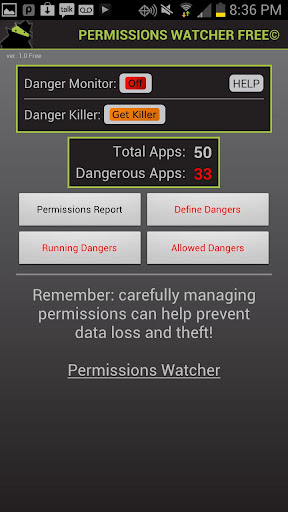 Permissions Watcher Free