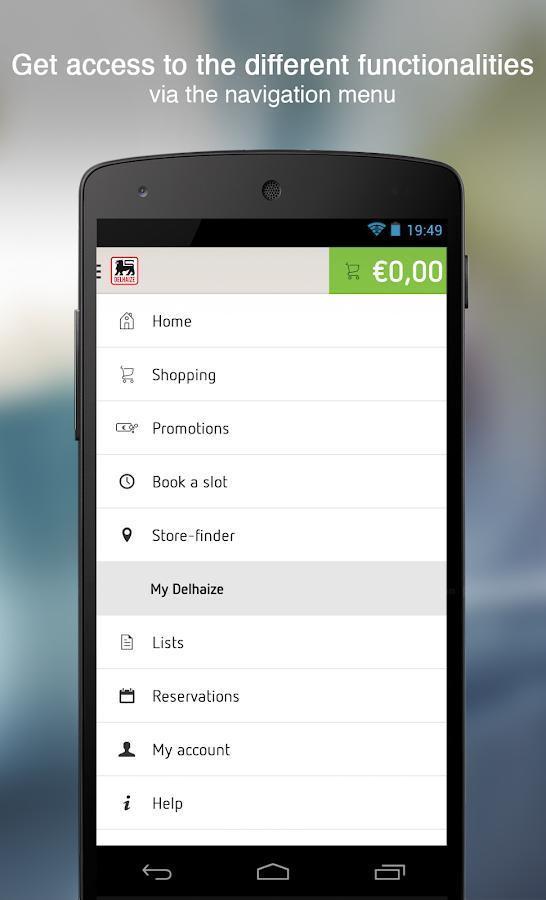 Delhaize - screenshot