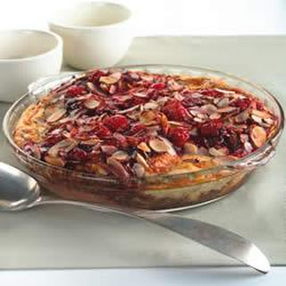 Cherry Chocolate Almond Croissant Bread Pudding