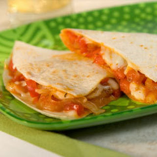 Easy Veggie Quesadillas.