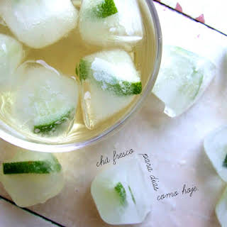 Fresh Lemon Verbena and Mint Tea.