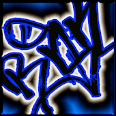 Graffiti Blue EvolveSms Theme