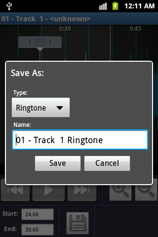 Ringtone Maker and MP3 cutter - screenshot