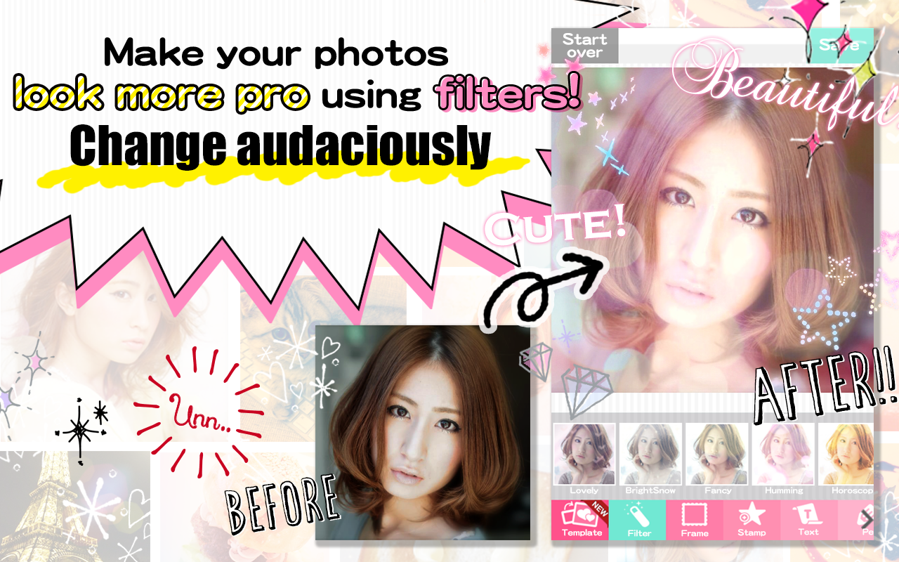 DECOPIC,Kawaii PhotoEditingApp - screenshot