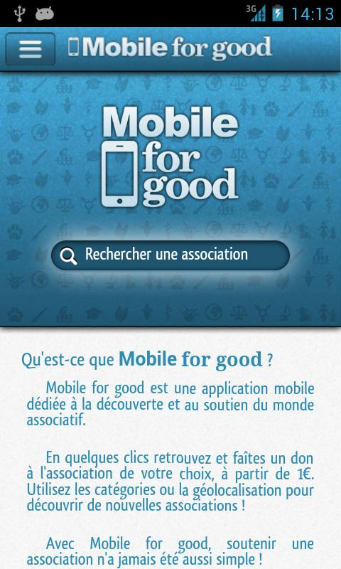 Mobile for good- screenshot