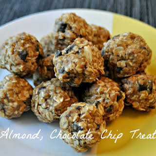Almond, Chocolate Chip, Oatmeal Treats.