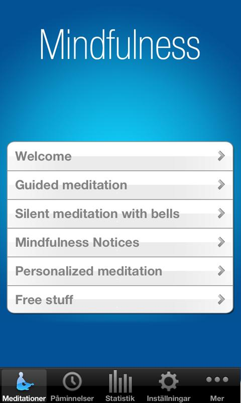 The Mindfulness App - screenshot