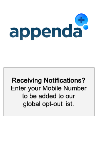 Appenda Opt-out - screenshot