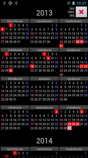 FI Holidays Annual Calendar