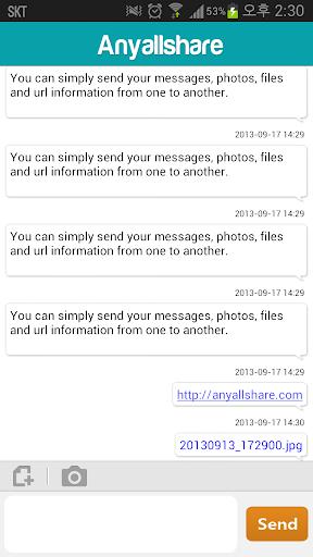 AnyallShare transfer data