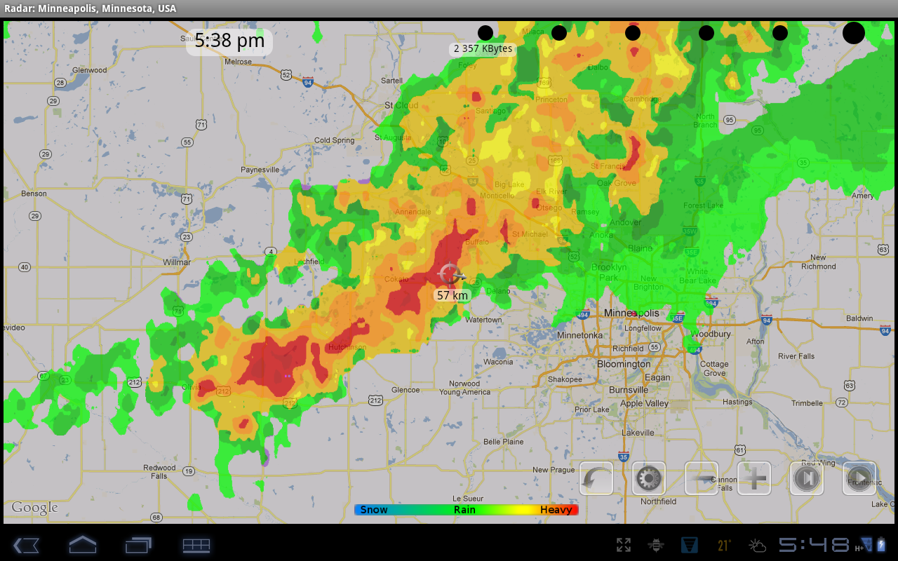 eRadar HD - NOAA Radar, Alerts - screenshot