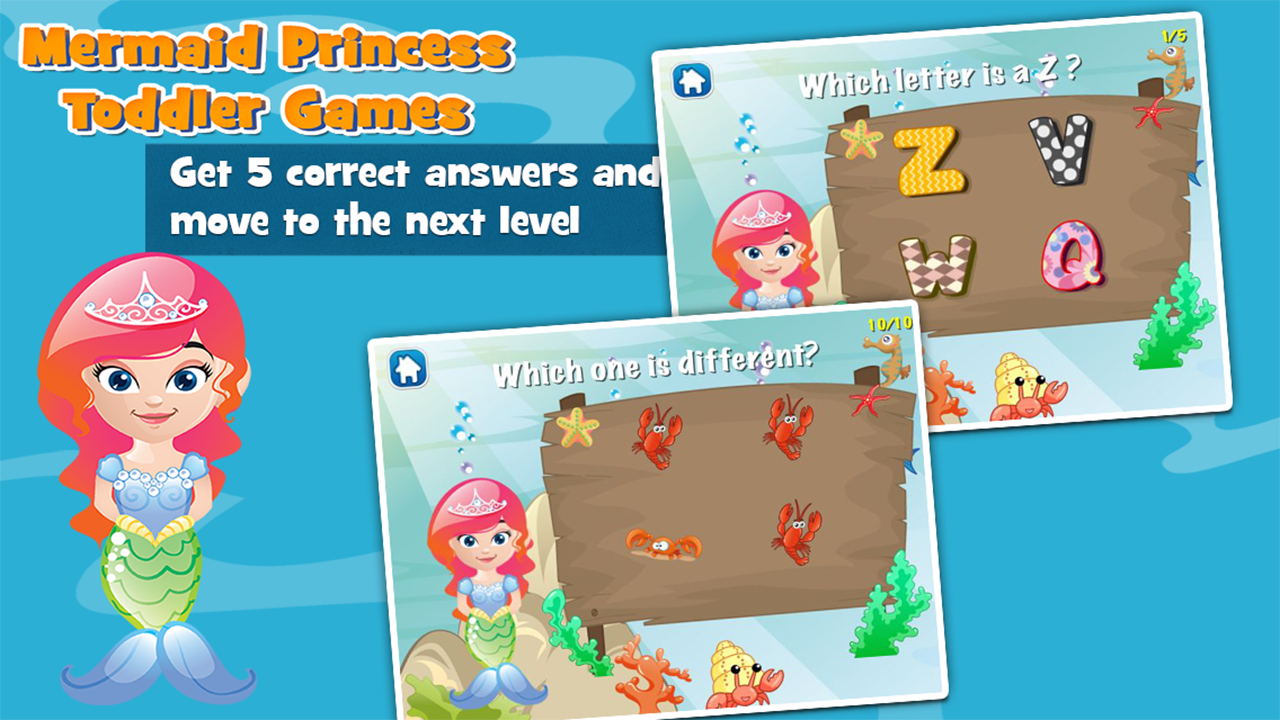 Mermaid Princess Toddler Games - Android Apps on Google Play