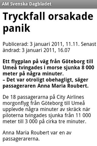 AM Svenska Dagbladet - screenshot