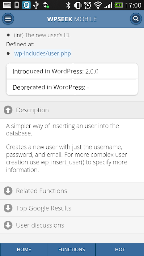 WPSeek WordPress Lookup- screenshot