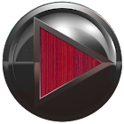 poweramp skin metal red wood icon