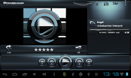 Poweramp skin Black Petrol APK screenshot thumbnail 8