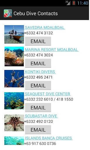 Cebu Dive Contacts