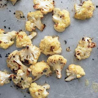 Roasted Cauliflower with Cheddar