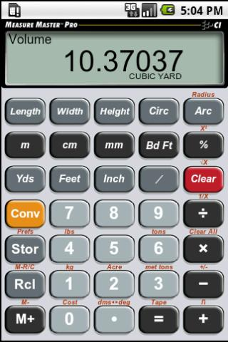 Measure Master Pro Calculator - screenshot