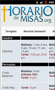 Horario de Misas- screenshot thumbnail