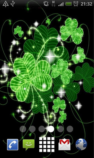【免費個人化App】Lucky Clovers Live Wallpaper-APP點子