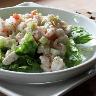 Simple Cold Shrimp Salad.