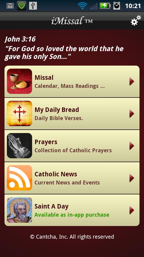 iMissal - #1 Catholic App - screenshot