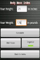 Screenshot of Health Calculator Pro