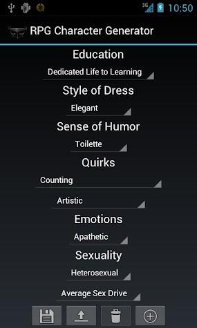 RPG Character Generator Prem. Screenshot