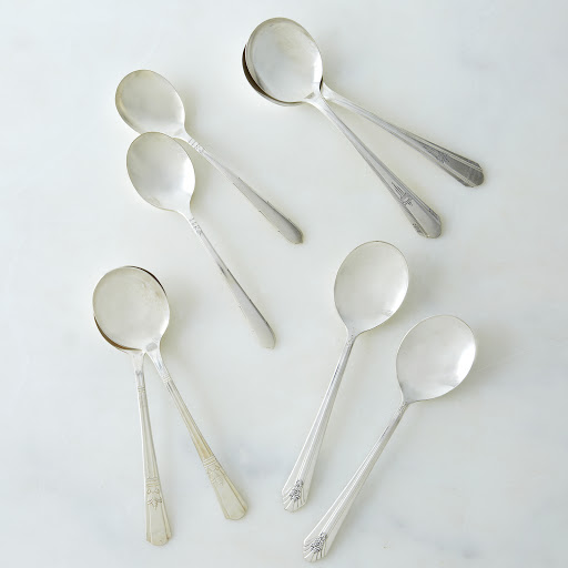 Vintage Soup Spoons (Set of 2)