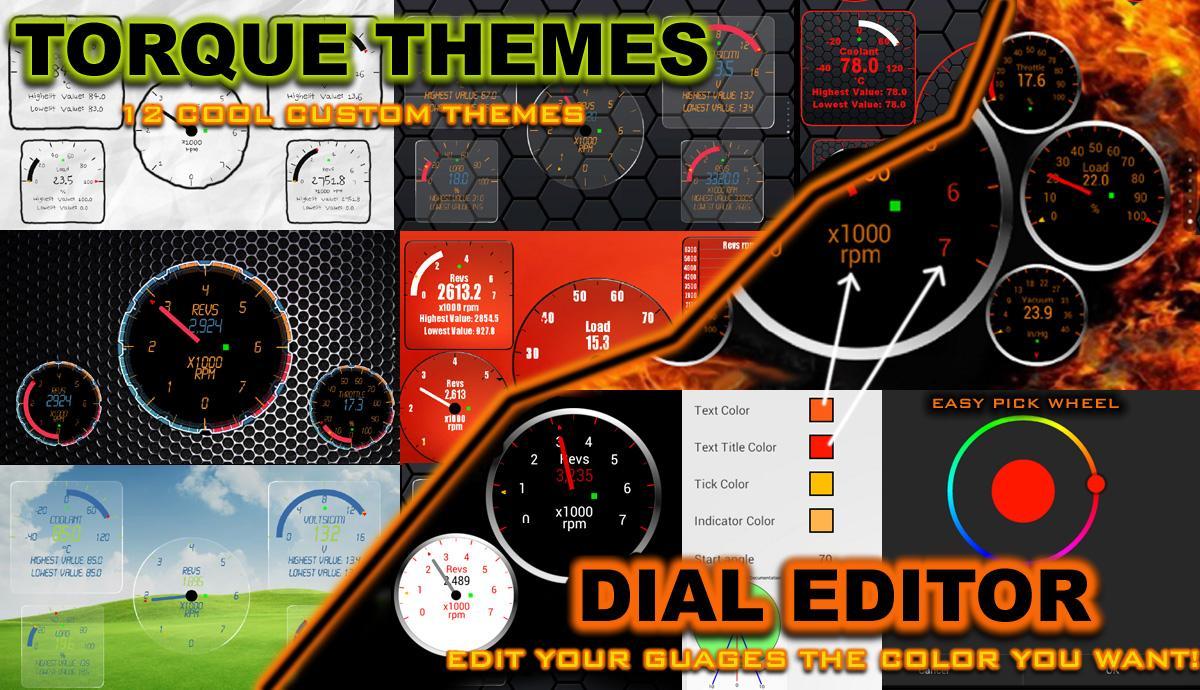 Google themes editor - Torque Themes Editor Obd 2 Screenshot