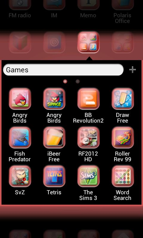 Sxi Red GO Launcher EX Theme - screenshot