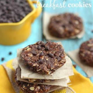 (No Bake) Double Chocolate Breakfast Cookies.
