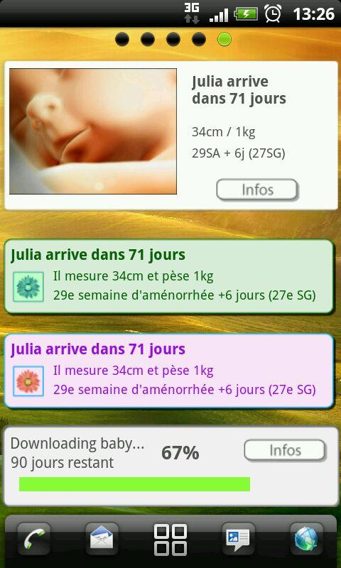 Pregnancy app & widget- screenshot