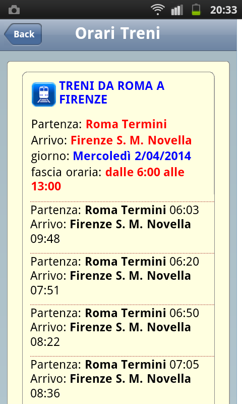 miMuovo - Transports in Italy - screenshot