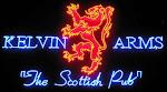 Logo for Kelvin Arms Scottish Pub