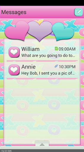 HuggsNKisses2 GO SMS THEME