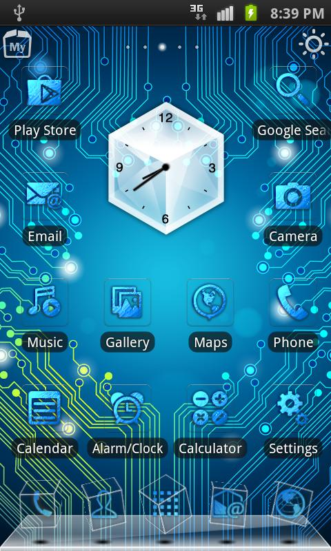 Circuit Board 3D Live Theme - screenshot