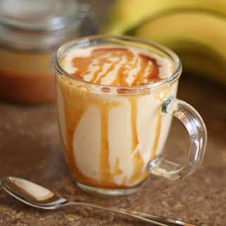 Caramel Peanut Butter Banana Milkshake Smoothie.