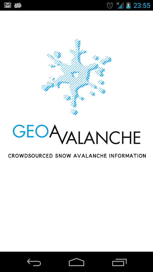 GeoAvalanche- screenshot