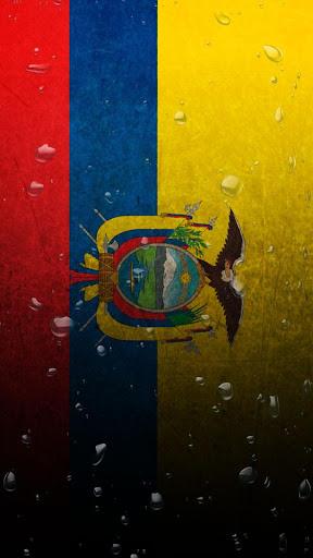 Ecuador flag water effect LWP