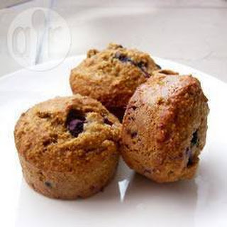 Oat Bran Blueberry Muffins Recipe