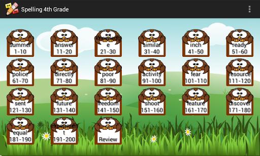 Spelling 4th Grade