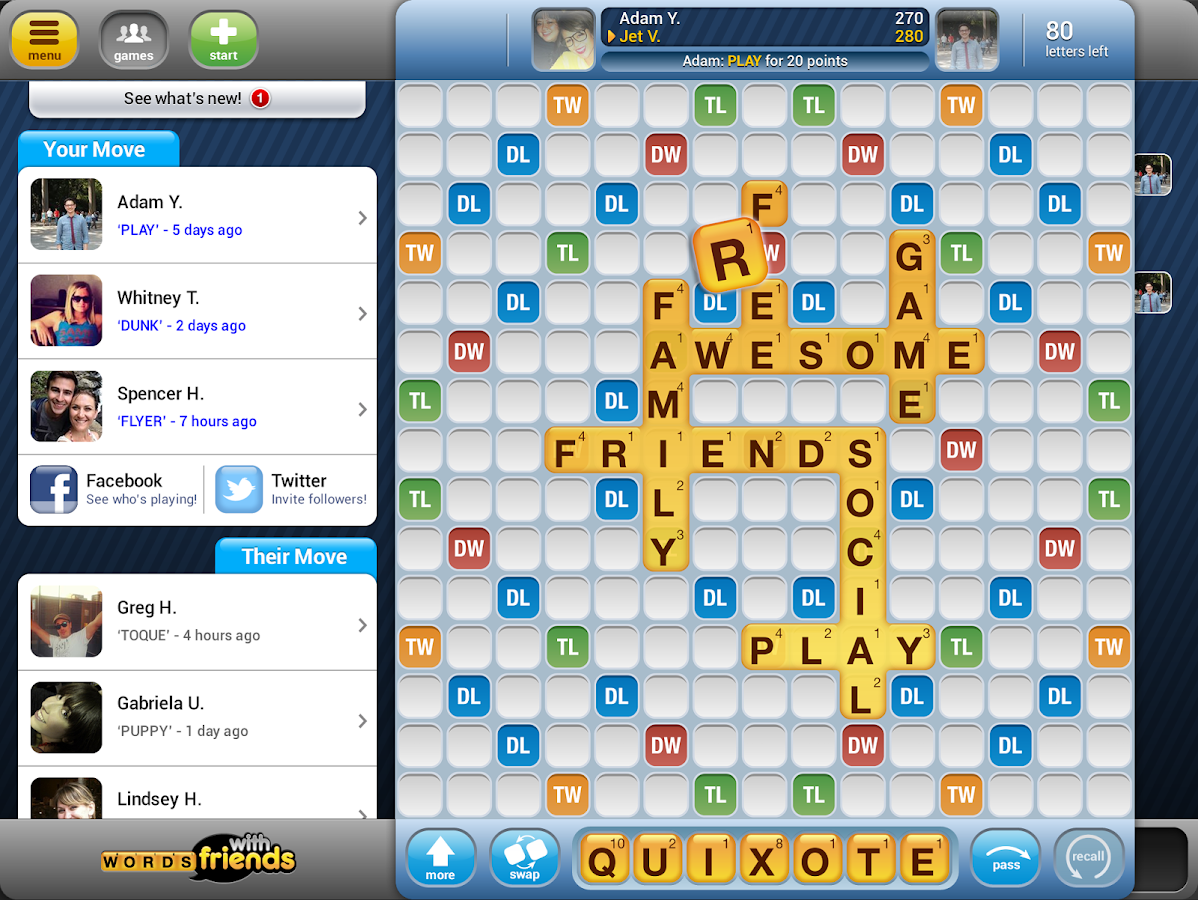 Words With Friends Free - screenshot