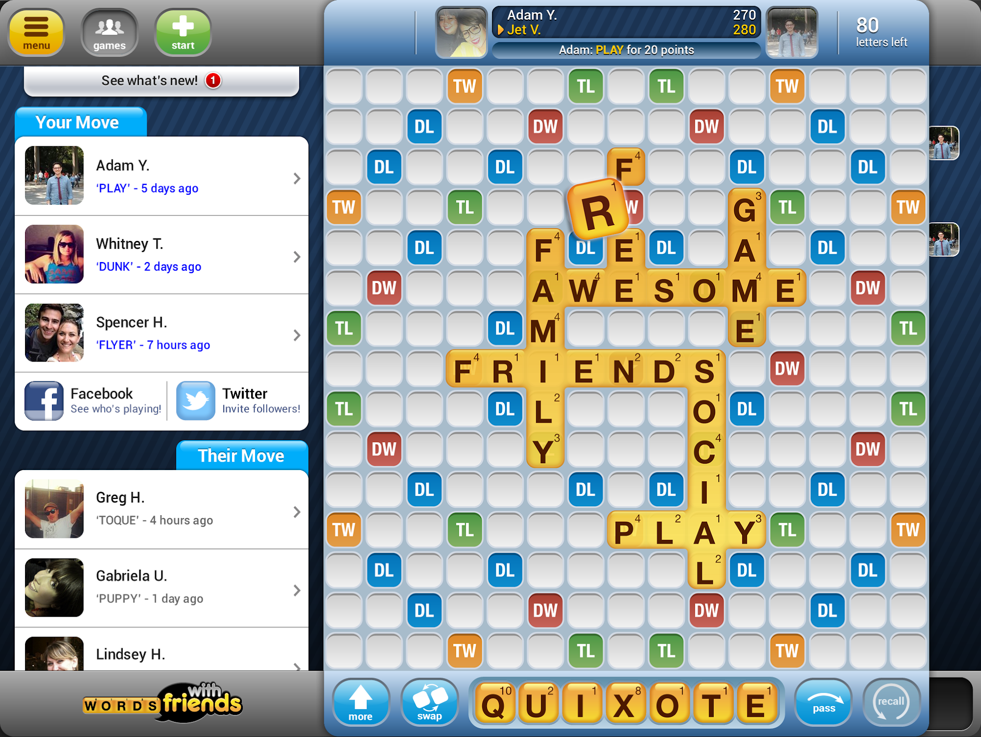 Words With Friends Classic screenshot #7